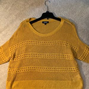 Gold Express Knot Sweater